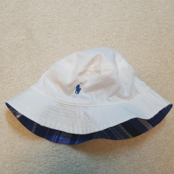 069bd2019fe91 Boys Polo Ralph Lauren reversible bucket hat